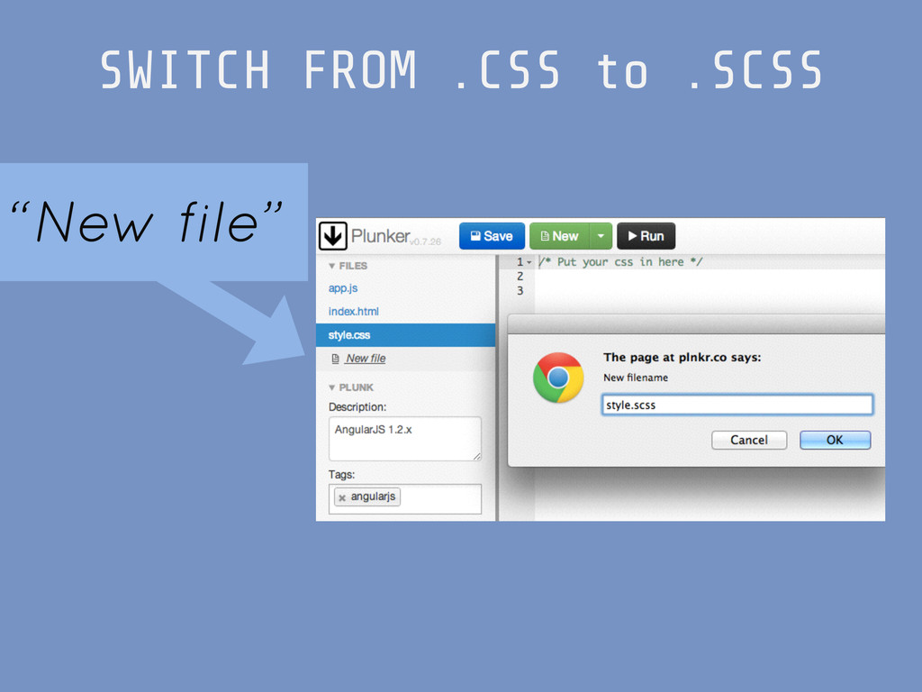 """SWITCH FROM .CSS to .SCSS """"New file"""""""