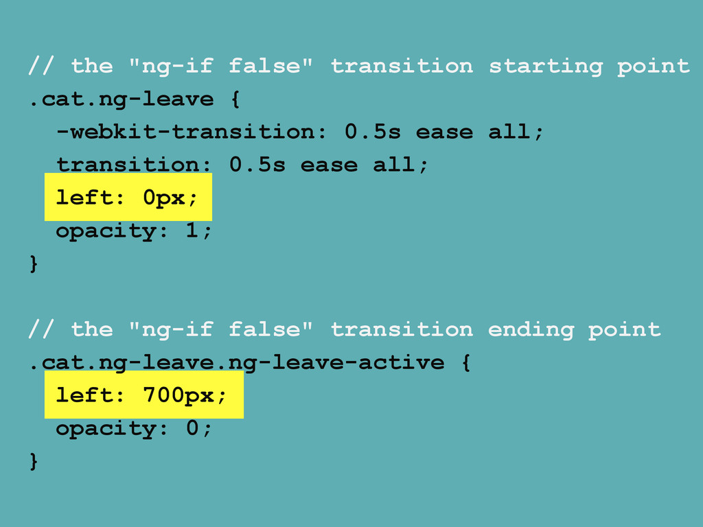 """// the """"ng-if false"""" transition starting point ..."""