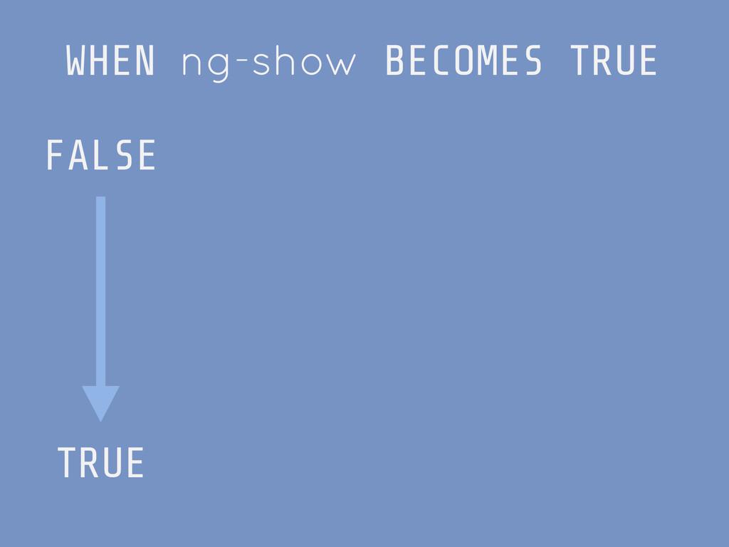 WHEN ng-show BECOMES TRUE FALSE ! ! ! ! ! TRUE