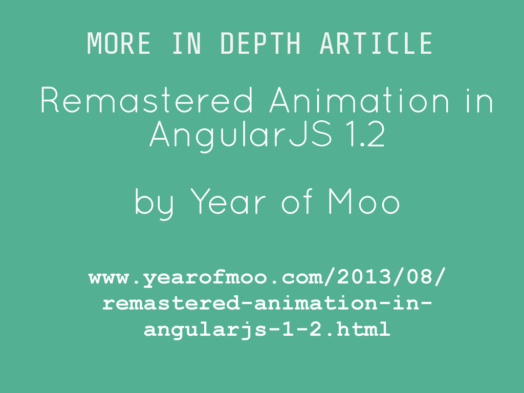 Remastered Animation in AngularJS 1.2 ! by Year...