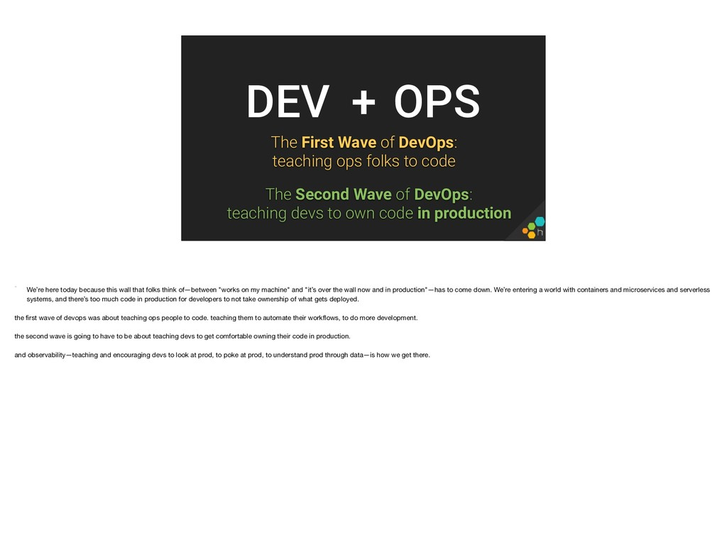 The First Wave of DevOps: teaching ops folks t...