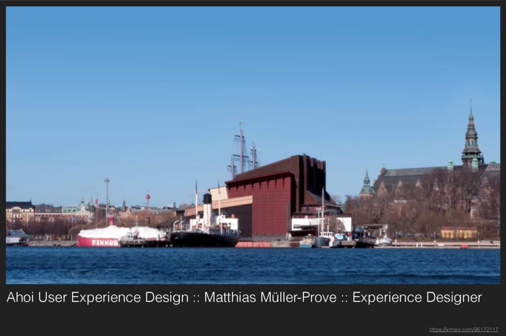 Ahoi User Experience Design :: Matthias Müller-...