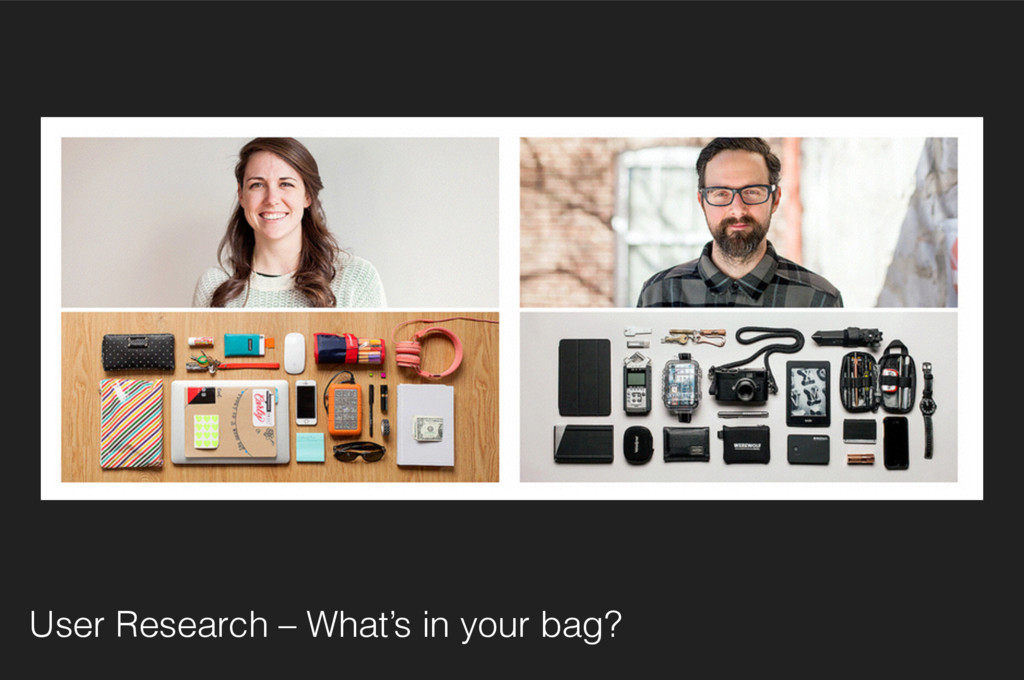 User Research – What's in your bag?