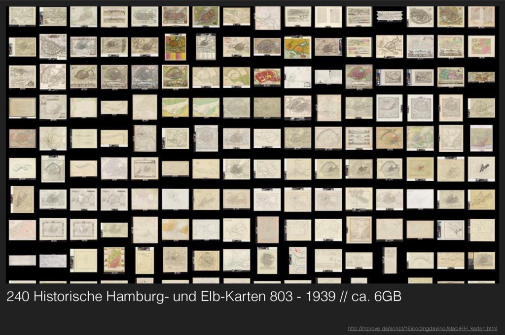 240 Historische Hamburg- und Elb-Karten 803 - 1...