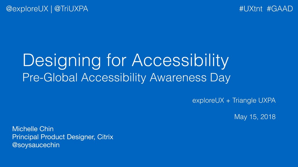 Designing for Accessibility Pre-Global Accessib...