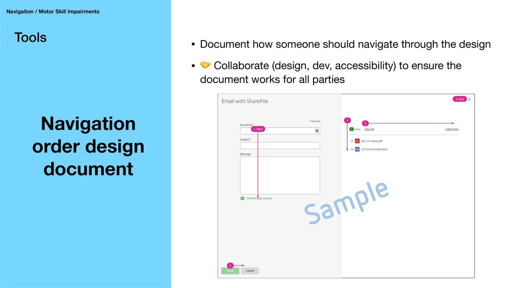 Tools Navigation order design document Navigati...
