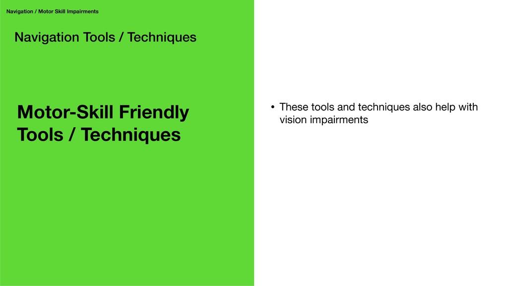 Navigation Tools / Techniques Navigation / Moto...