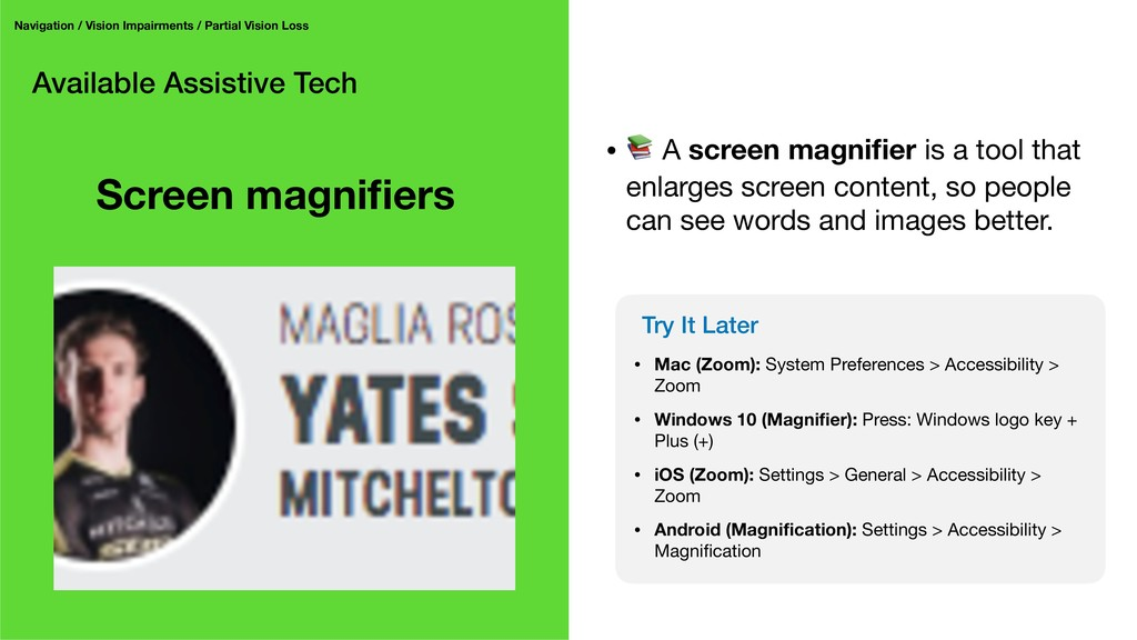 Available Assistive Tech Navigation / Vision Im...