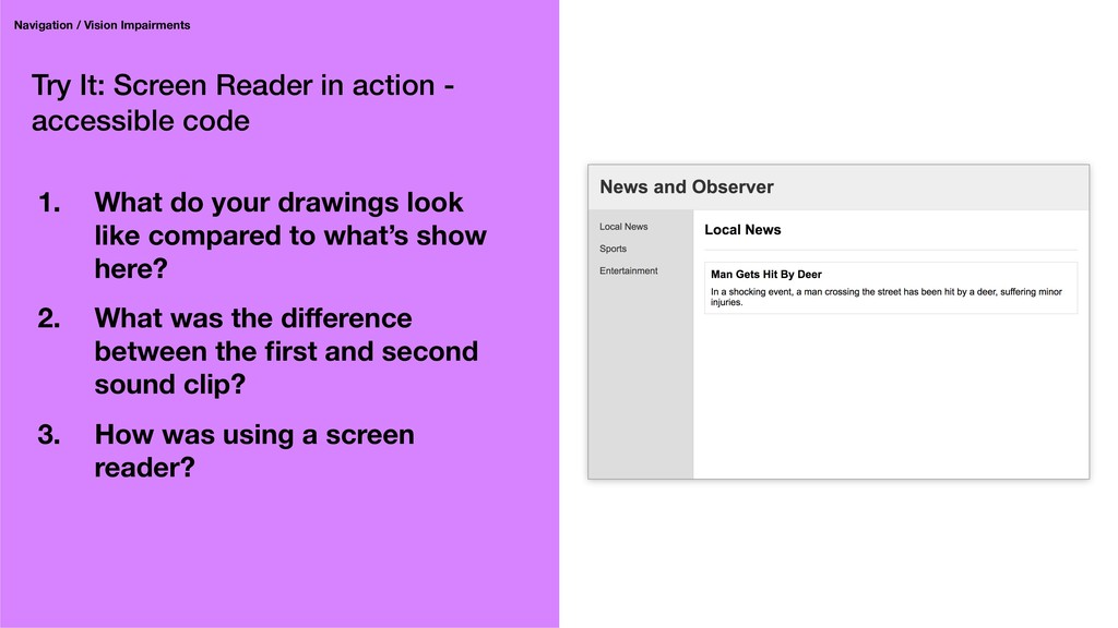 Try It: Screen Reader in action - accessible co...