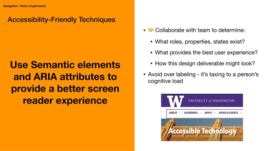 Accessibility-Friendly Techniques Use Semantic ...
