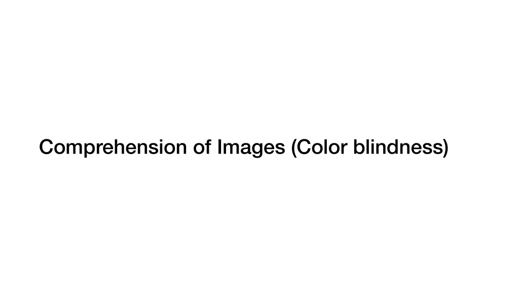 Comprehension of Images (Color blindness)