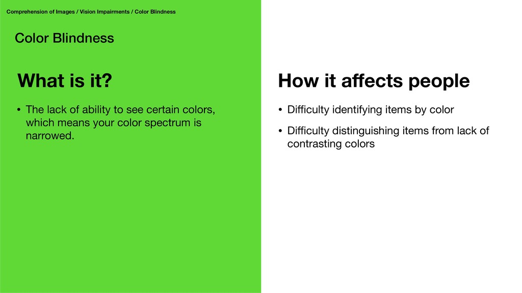 Color Blindness Comprehension of Images / Visio...