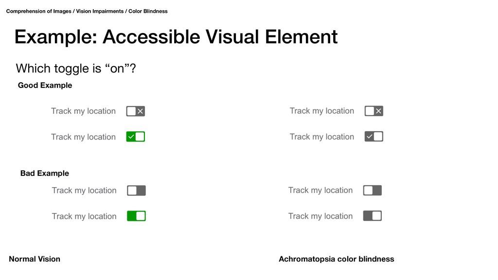 Example: Accessible Visual Element Comprehensio...