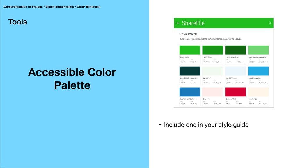 Tools Accessible Color Palette Comprehension of...