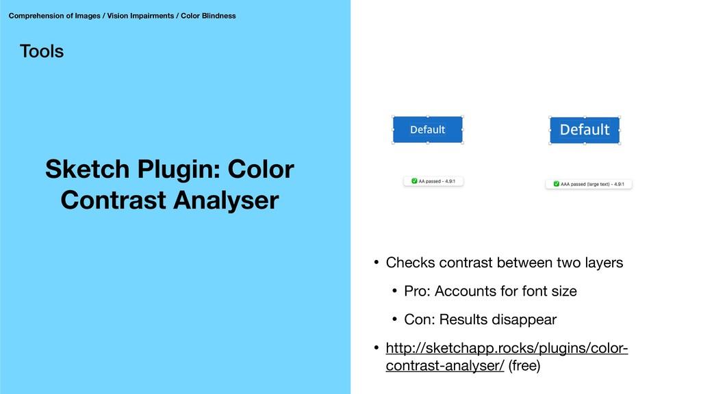 Tools Sketch Plugin: Color Contrast Analyser Co...