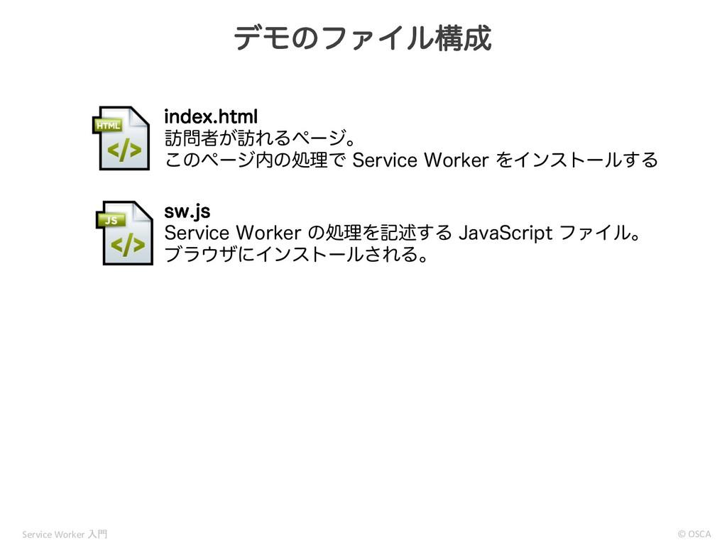 σϞͷϑΝΠϧߏ © OSCA Service Worker  JOEFYIUNM ๚...