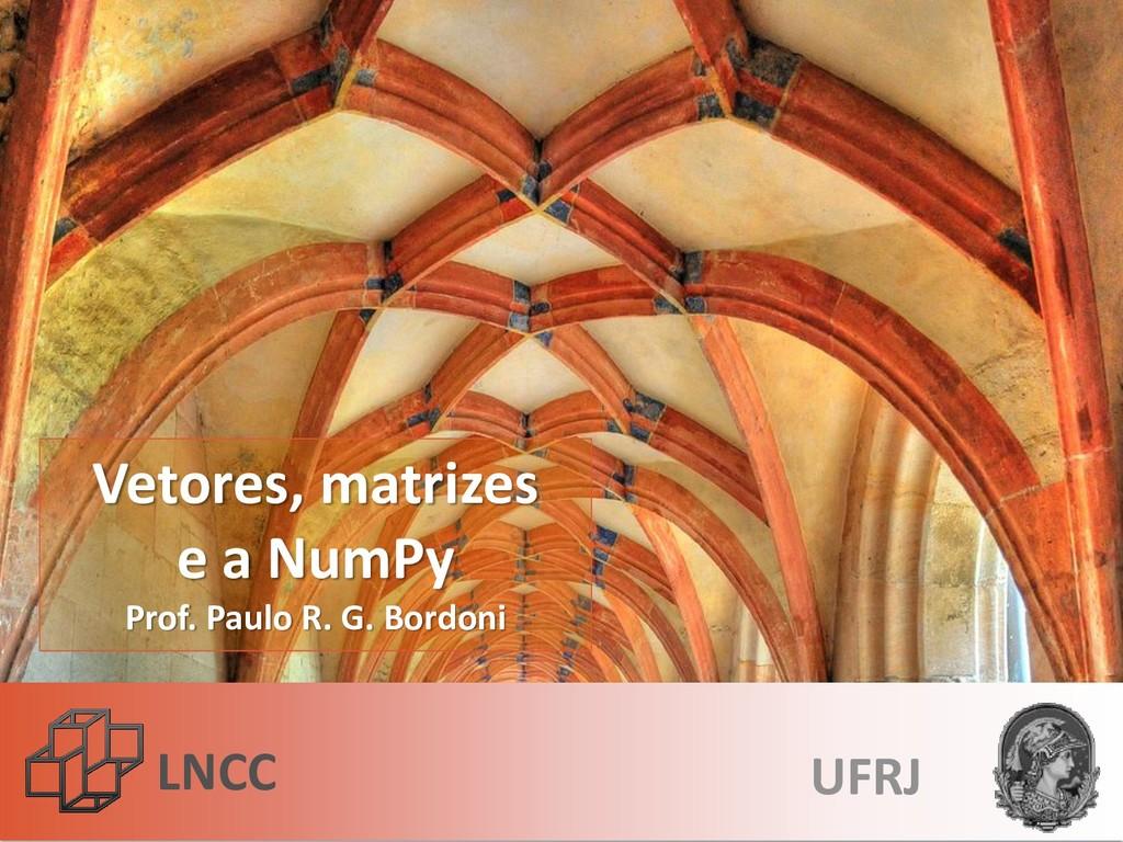LNCC Vetores, matrizes e a NumPy Prof. Paulo R....