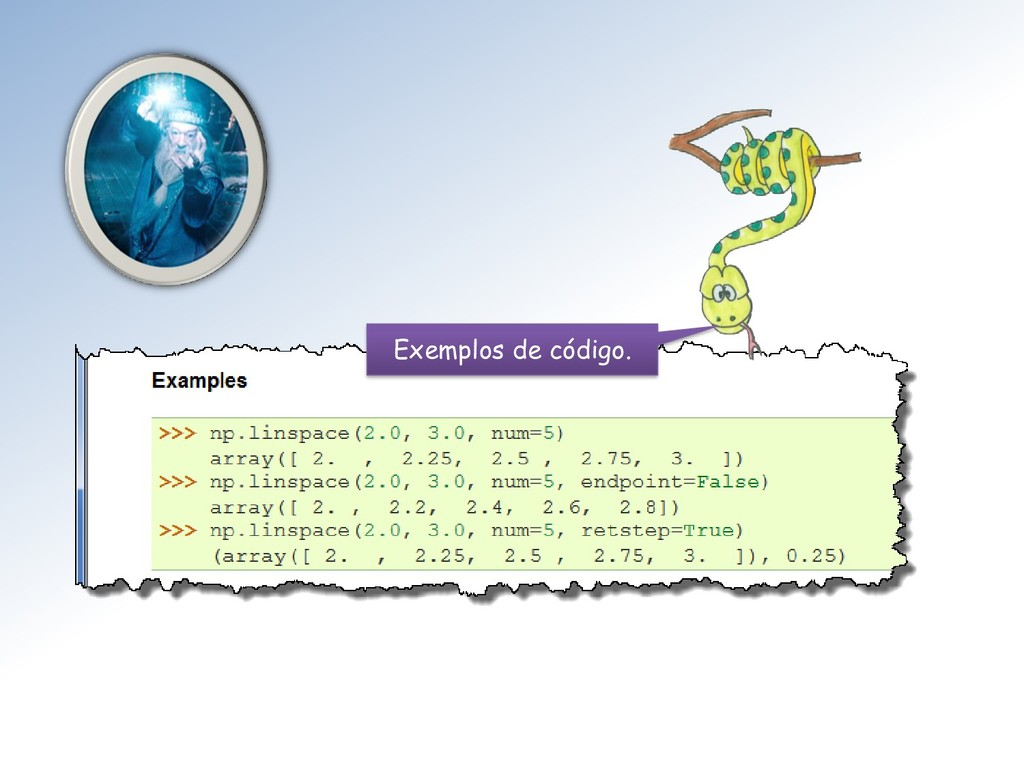 Exemplos de código.