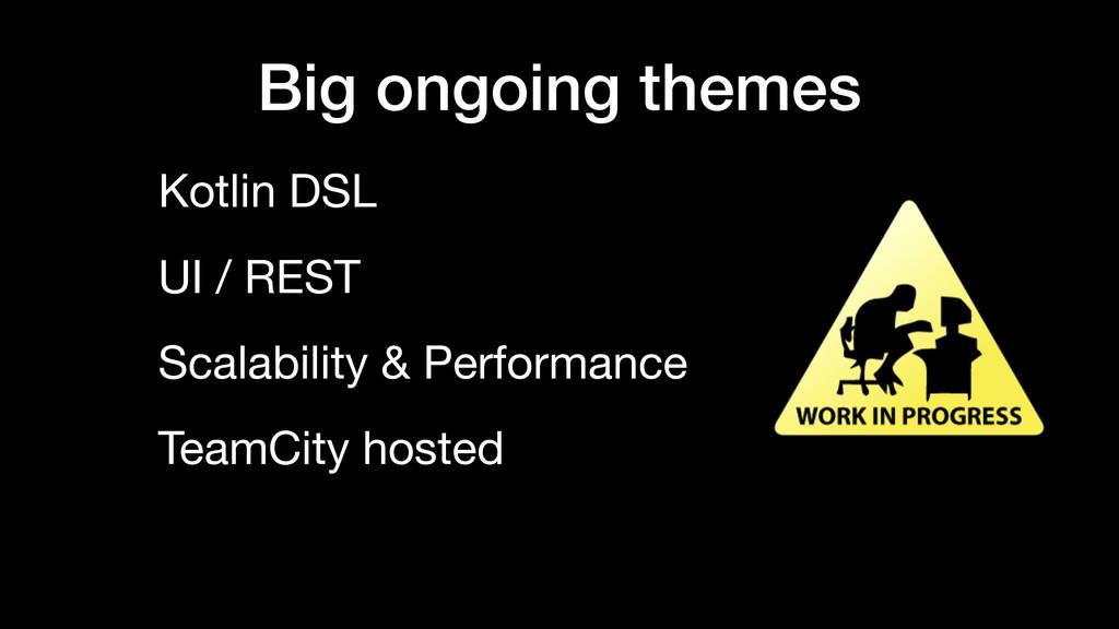 Big ongoing themes Kotlin DSL UI / REST Scalabi...