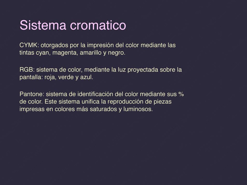 Sistema cromatico CYMK: otorgados por la impres...