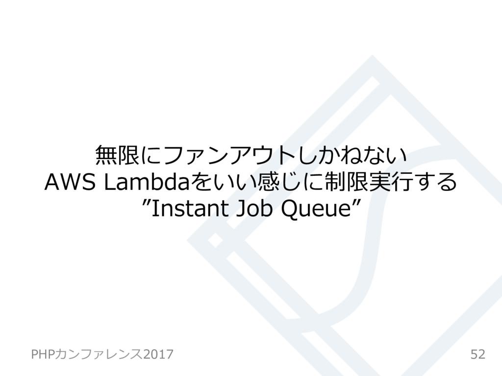 """無限にファンアウトしかねない AWS Lambdaをいい感じに制限実⾏する """"Instant ..."""