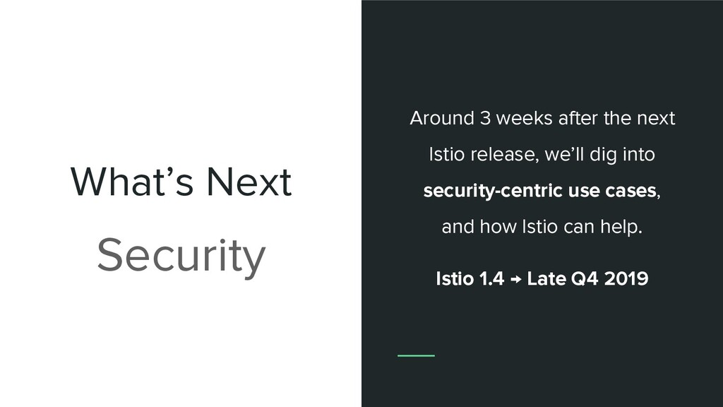What's Next Security Around 3 weeks after the n...
