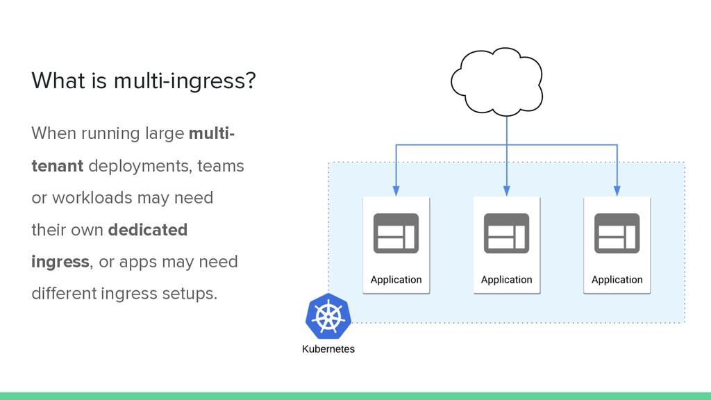 What is multi-ingress? When running large multi...