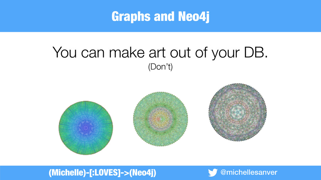 @michellesanver You can make art out of your DB...