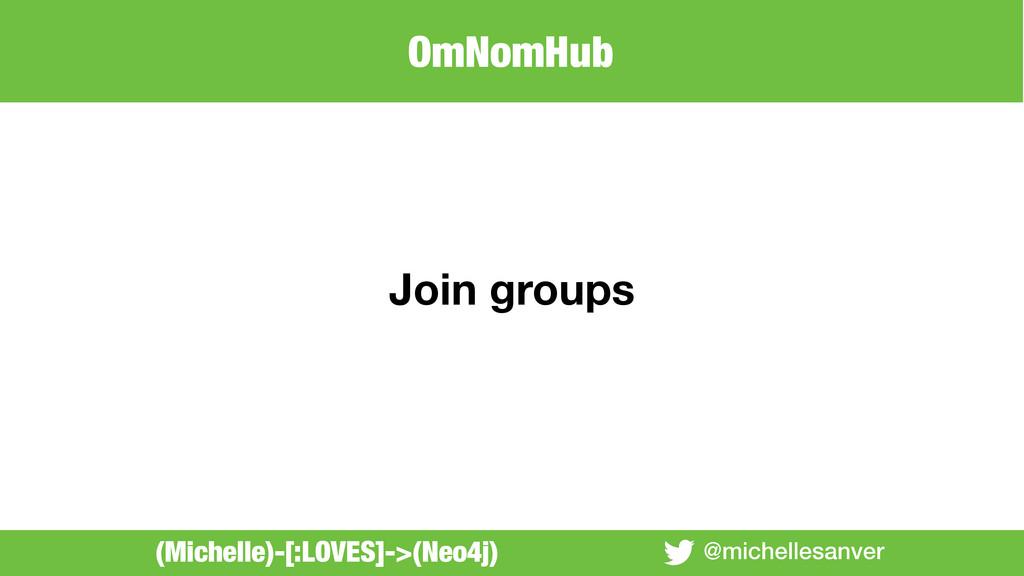 @michellesanver Join groups (Michelle)-[:LOVES]...