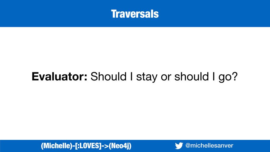 @michellesanver Evaluator: Should I stay or sh...