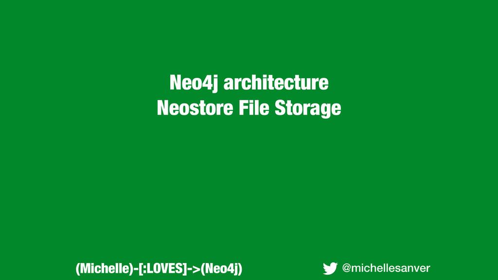 Neo4j architecture Neostore File Storage @miche...