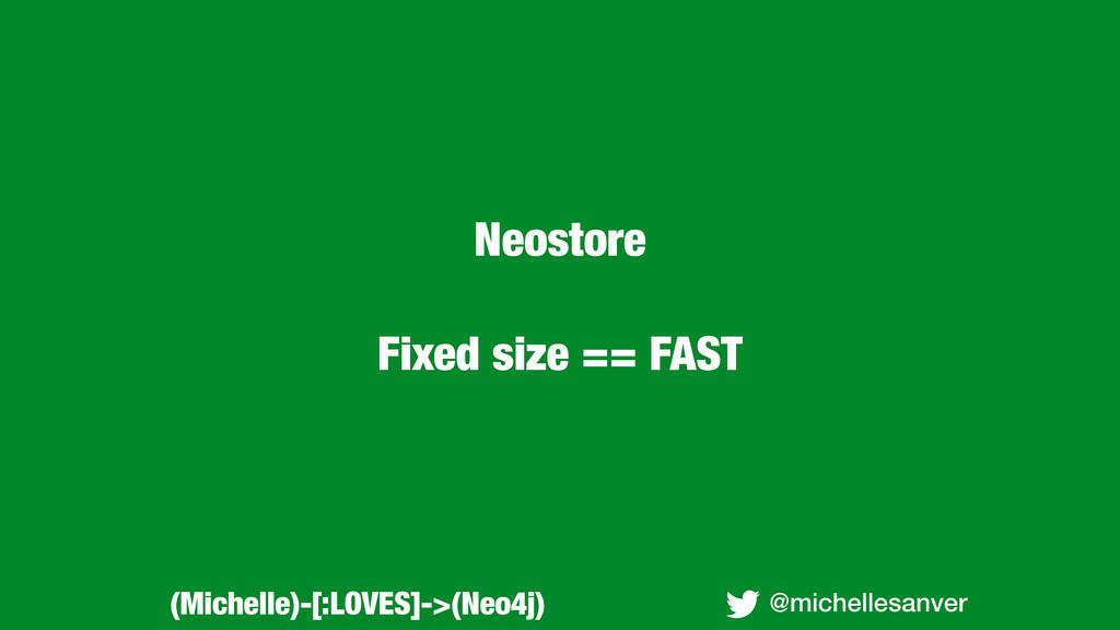 Neostore Fixed size == FAST @michellesanver (Mi...