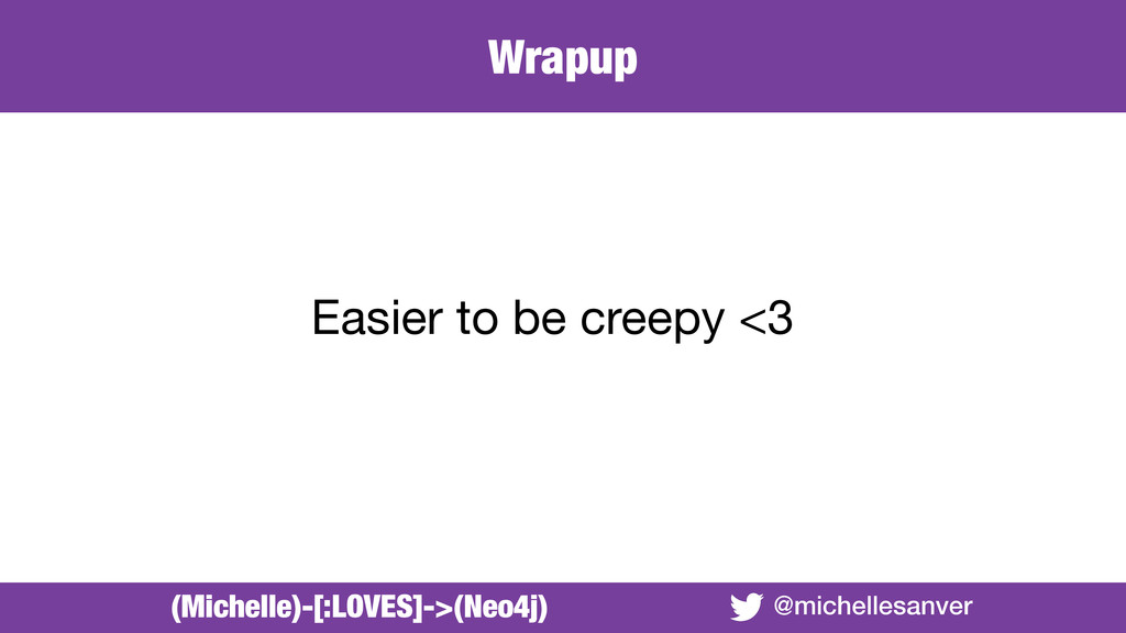 @michellesanver Easier to be creepy <3 (Michell...