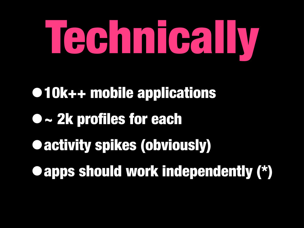 •10k++ mobile applications •~ 2k profiles for ea...