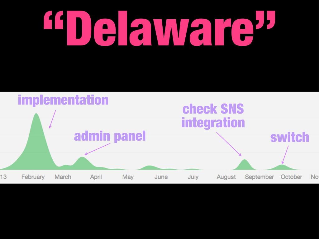 """Delaware"" implementation check SNS integration..."
