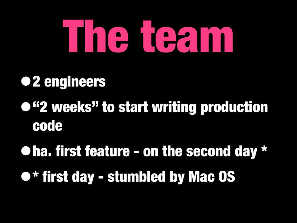 "•2 engineers •""2 weeks"" to start writing produc..."