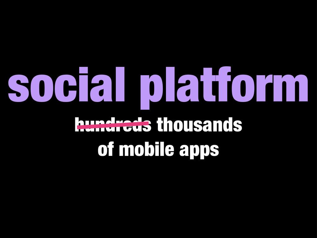 social platform hundreds thousands of mobile ap...