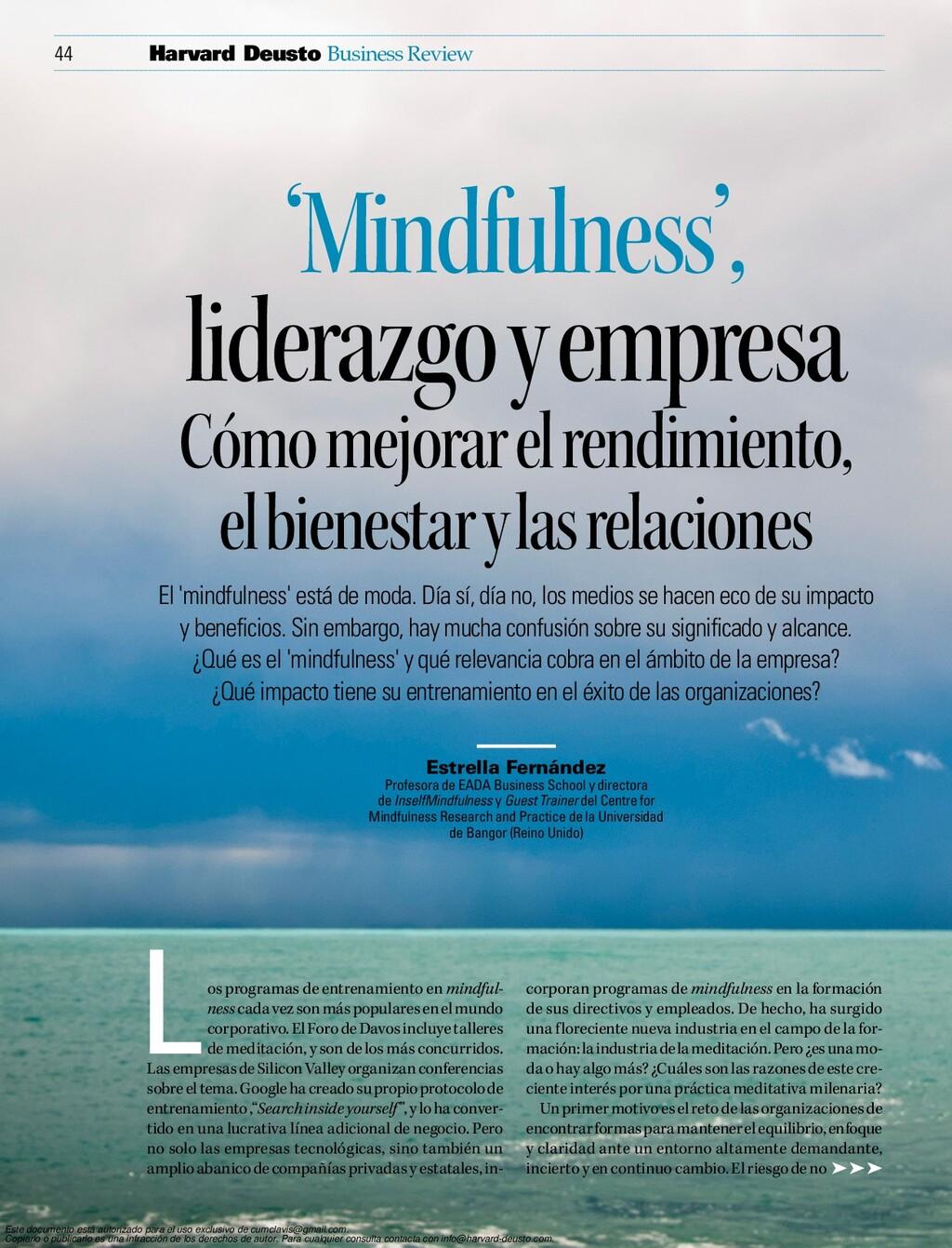 44 Business Review Harvard Deusto El 'mindfulne...