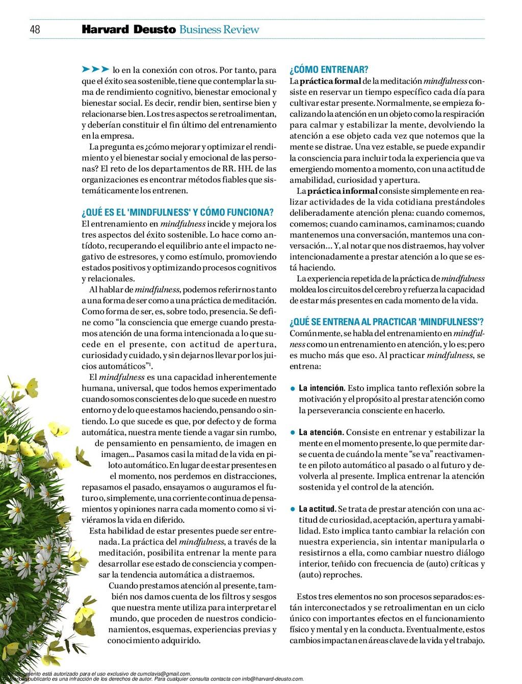48 Business Review Harvard Deusto ¿Cómo entrena...