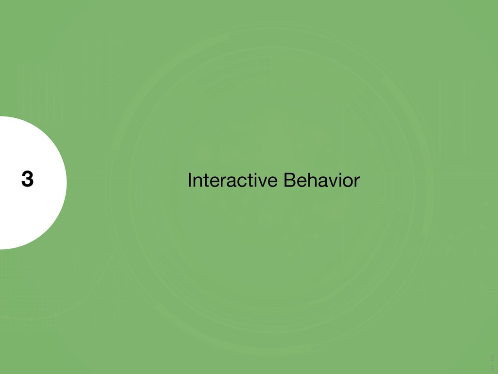 Interactive Behavior 3 2 1