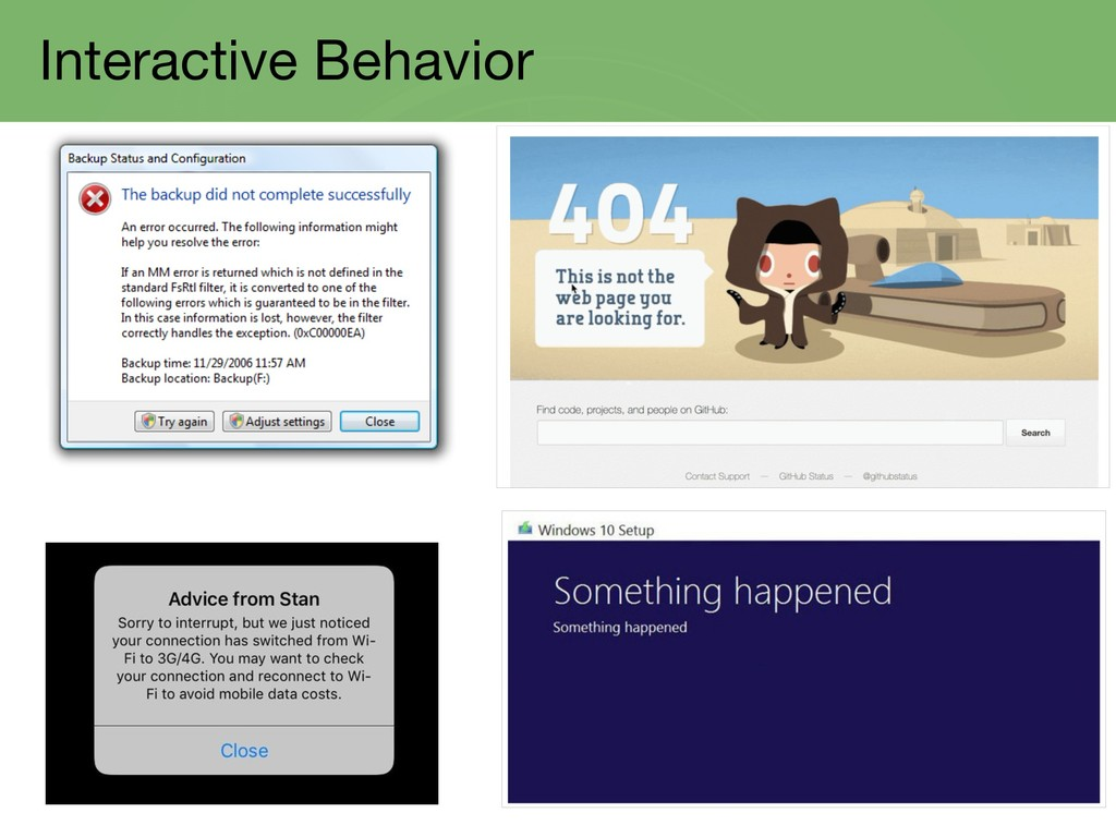 Interactive Behavior