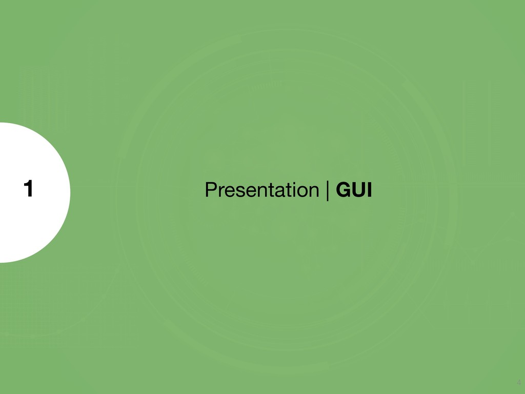 Presentation | GUI 1 4