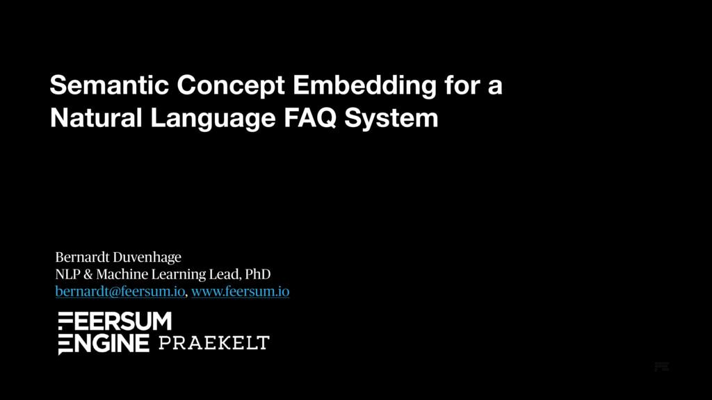 Semantic Concept Embedding for a Natural Langua...