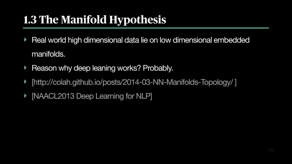 1.3 The Manifold Hypothesis ‣ Real world high d...