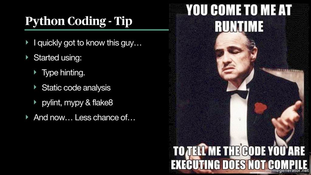 Python Coding - Tip ‣ I quickly got to know thi...