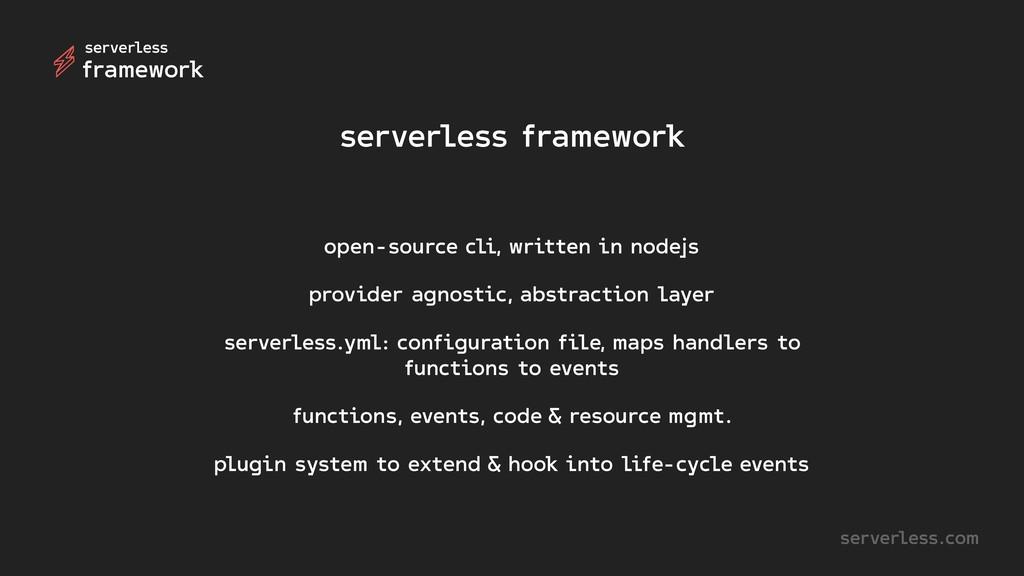 serverless.com serverless framework open-source...