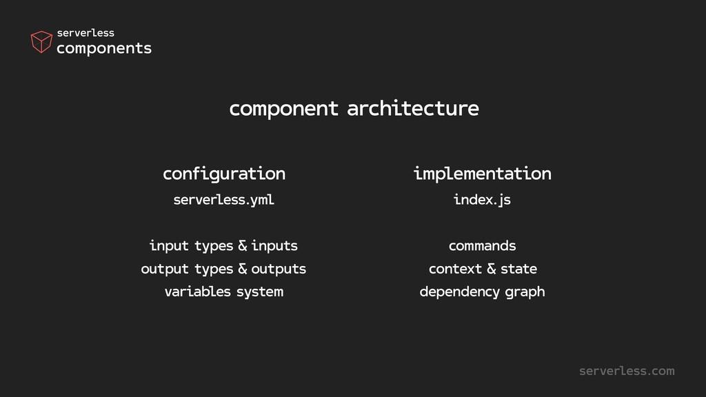 component architecture serverless.com configura...