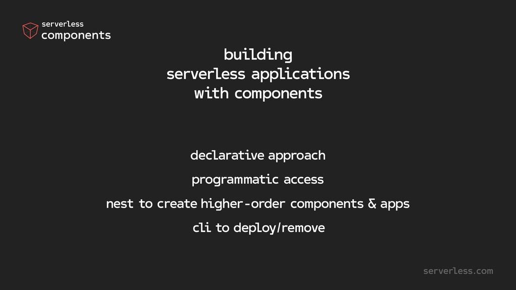 declarative approach programmatic access nest t...