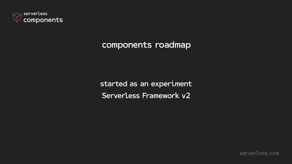 components roadmap started as an experiment Ser...