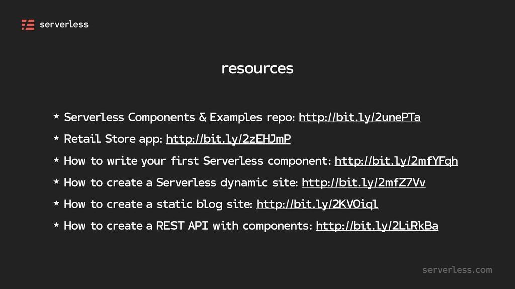 resources serverless.com Serverless Components ...
